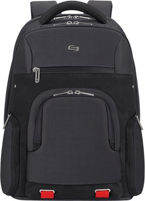 SOLO Stealth 15.6 inch Backpack Black - SOLO Laptop Backpacks