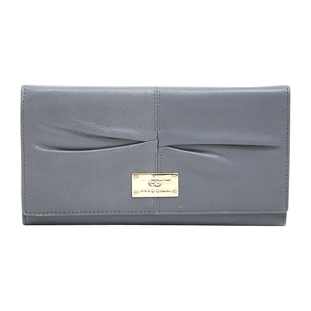 Dasein Womens Classic Pleated Tri-Fold Wallet Grey - Dasein Womens Wallets - Women's SLG, Women's Wallets