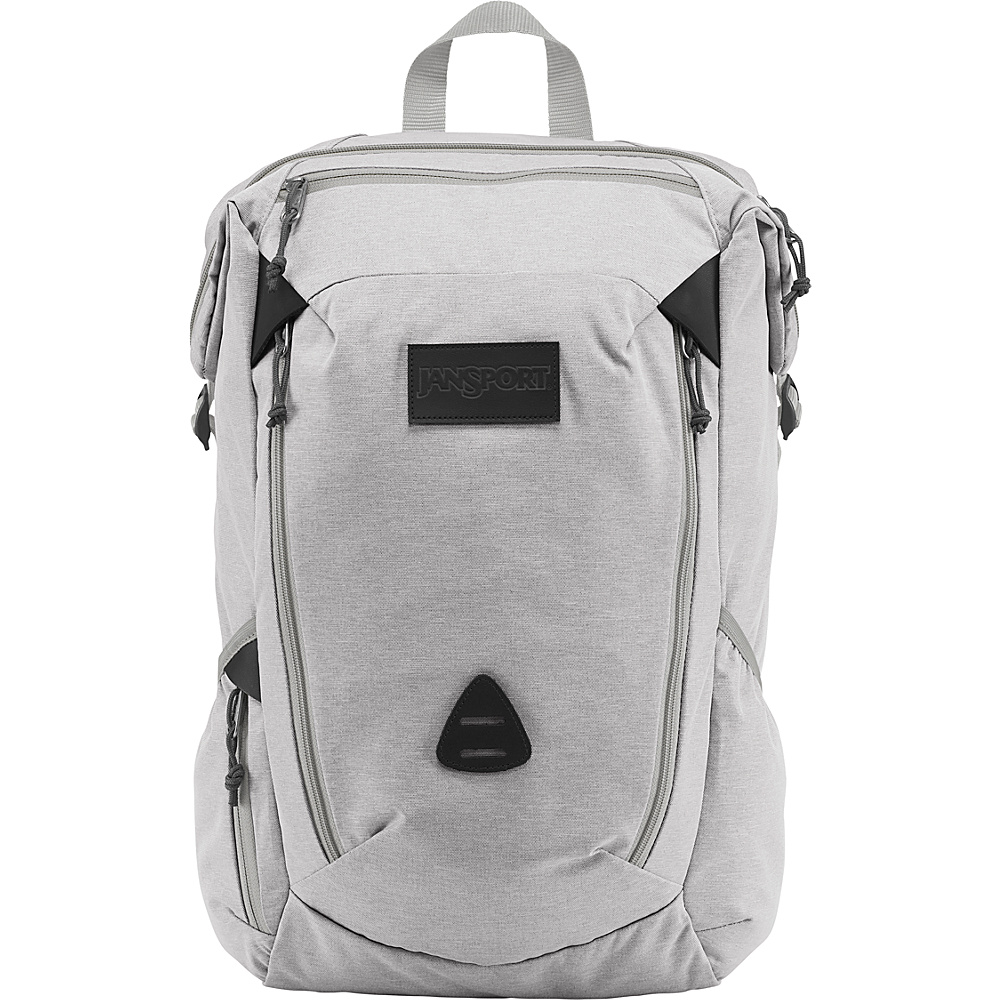 JanSport Shotwell Laptop Backpack Grey Heathered Poly - JanSport Laptop Backpacks