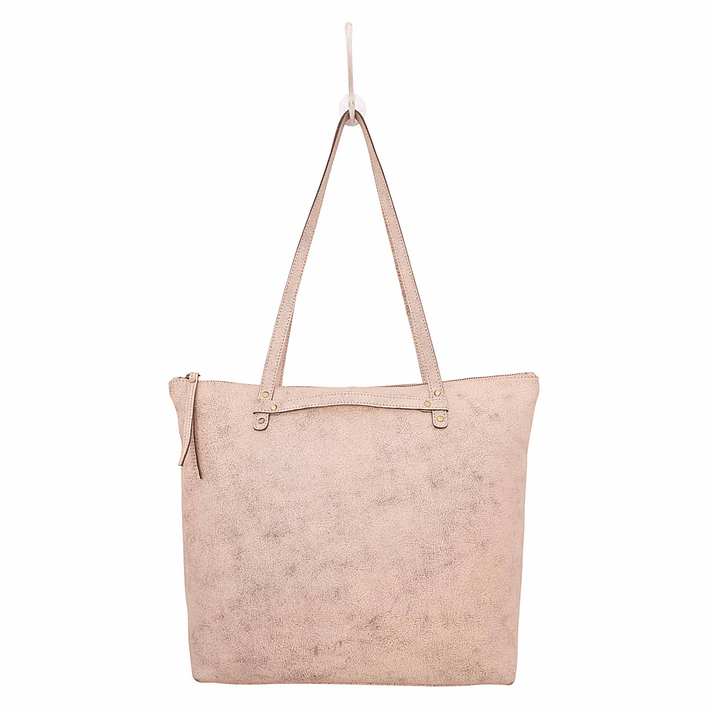 Latico Leathers Weston Tote Crackle White - Latico Leathers Leather Handbags - Handbags, Leather Handbags