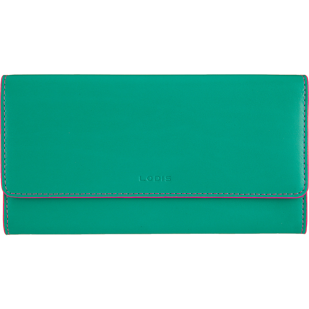 Lodis Audrey Cami Clutch Wallet Green/Azalea - Lodis Womens Wallets - Women's SLG, Women's Wallets