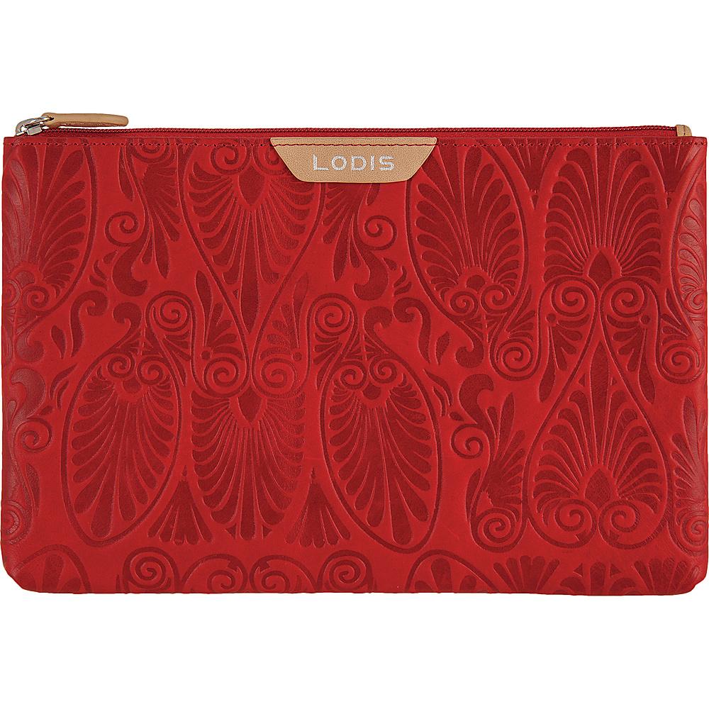 Lodis Denia Flat Pouch Red - Lodis Womens Wallets - Women's SLG, Women's Wallets