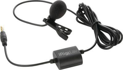 IK Multimedia iRig Mic Lav Mobile Lavalier for Smartphone/Tablet Black - IK Multimedia Electronic Accessories