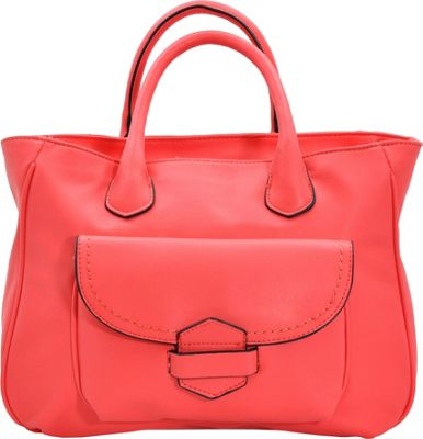 MoDa Classic Downtown Doctors Style Satchel Coral - MoDa Manmade Handbags