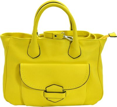 MoDa Classic Downtown Doctors Style Satchel Lemon - MoDa Manmade Handbags