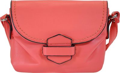 MoDa Buttersoft Downtown Crossbody Coral - MoDa Manmade Handbags