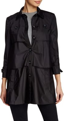 Rolo & Ale Andrea Long Sleeve Tiered Utility Trench Coat M - Black - Rolo & Ale Women's Apparel