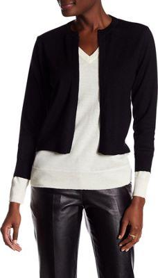 Rolo & Ale Bette Wool Cropped Cardigan M - Ivory & Black - Rolo & Ale Women's Apparel