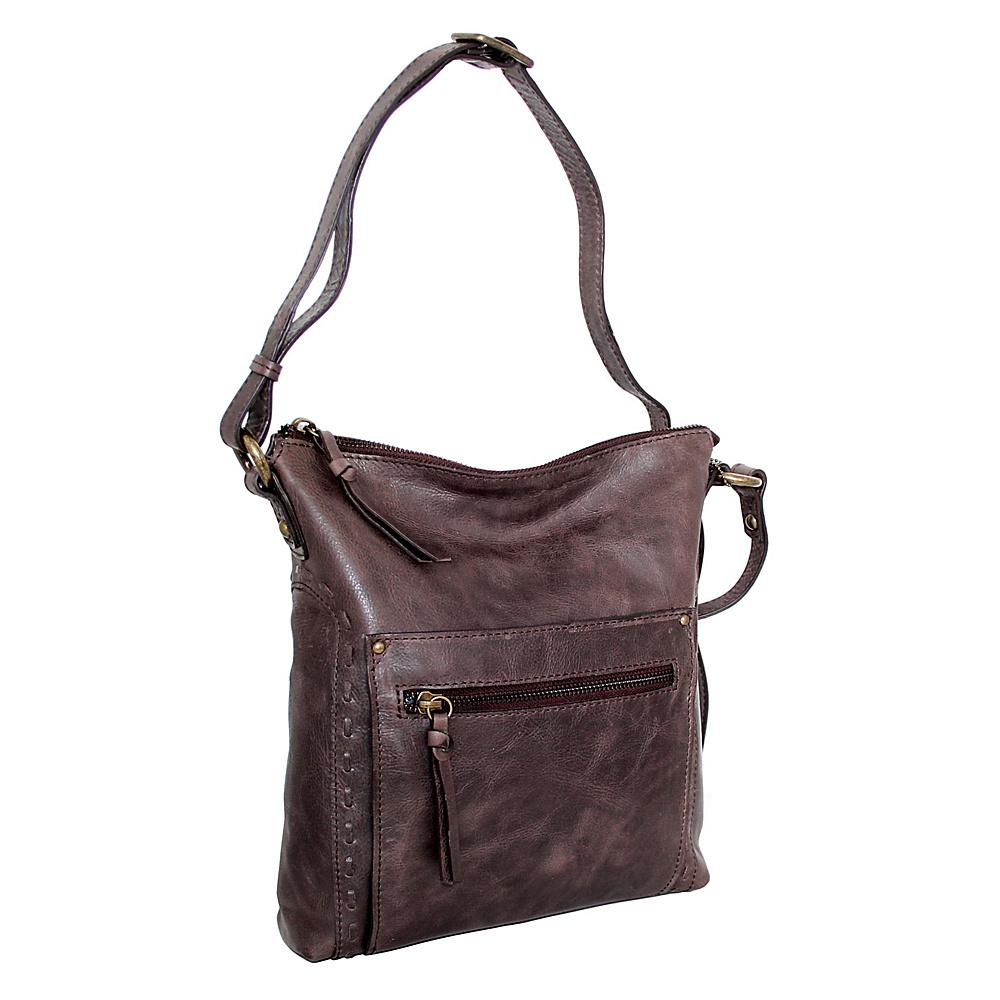 Nino Bossi Tere Crossbody Chocolate - Nino Bossi Leather Handbags - Handbags, Leather Handbags