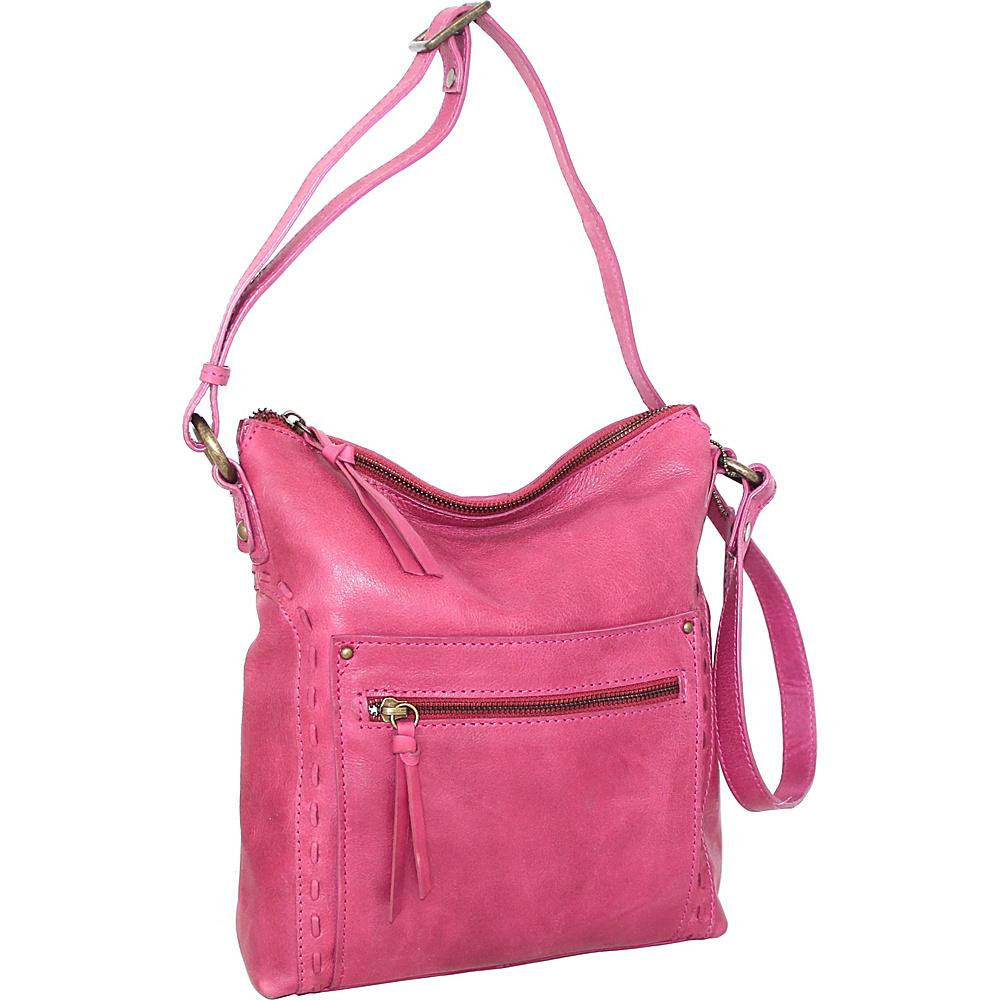 Nino Bossi Tere Crossbody Fuchsia - Nino Bossi Leather Handbags - Handbags, Leather Handbags