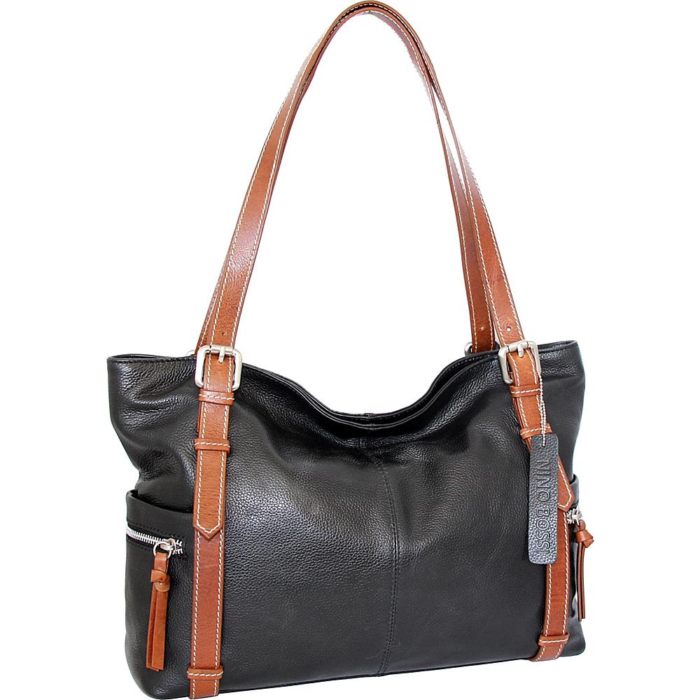 Nino Bossi Tias Tote Black - Nino Bossi Leather Handbags - Handbags, Leather Handbags