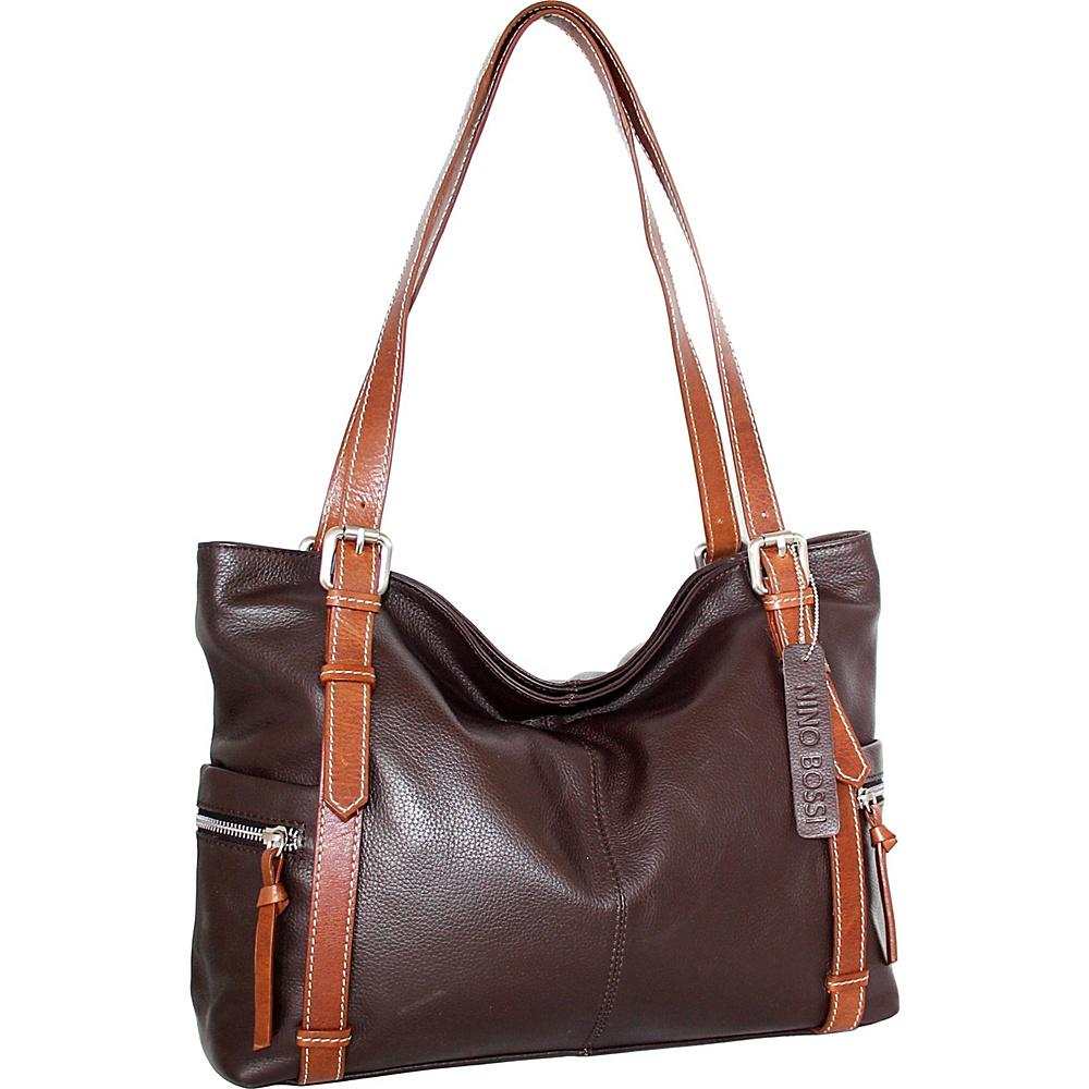 Nino Bossi Tias Tote Chocolate - Nino Bossi Leather Handbags - Handbags, Leather Handbags