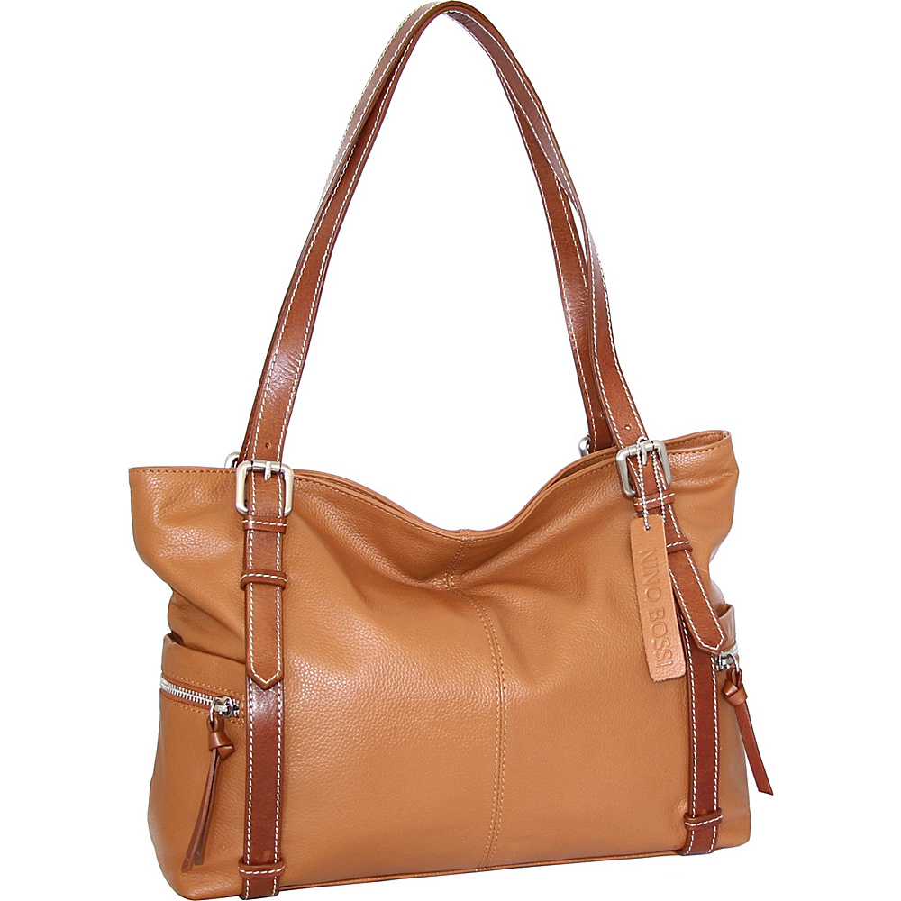Nino Bossi Tias Tote Cognac - Nino Bossi Leather Handbags - Handbags, Leather Handbags