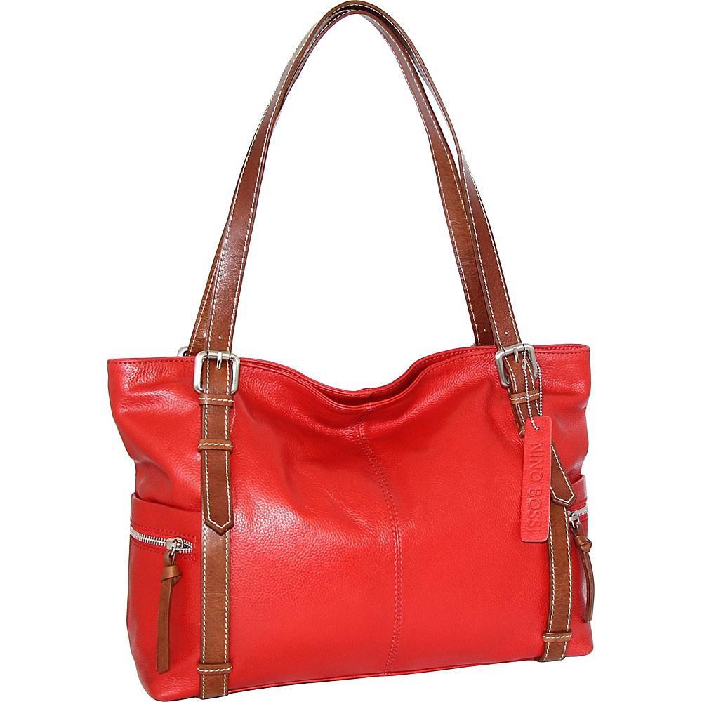 Nino Bossi Tias Tote Tomato - Nino Bossi Leather Handbags - Handbags, Leather Handbags
