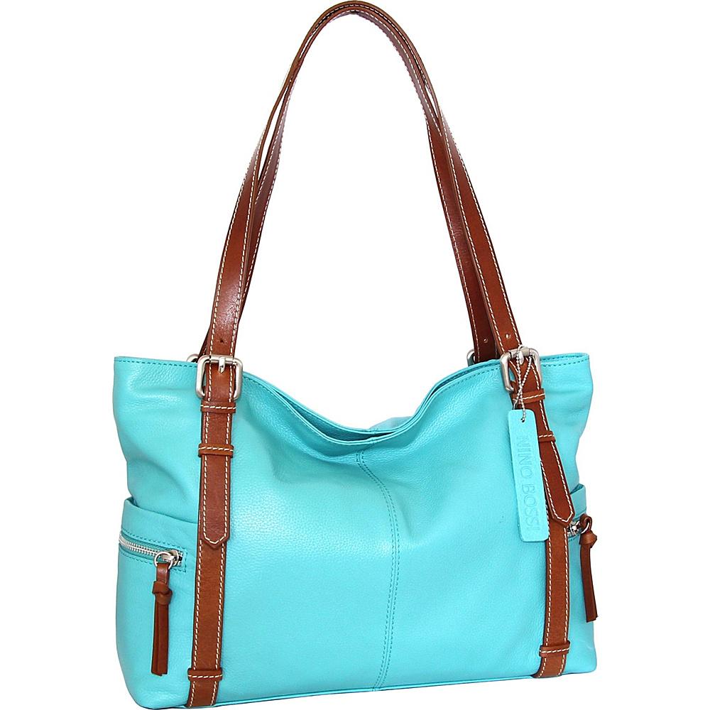 Nino Bossi Tias Tote Turquoise - Nino Bossi Leather Handbags - Handbags, Leather Handbags