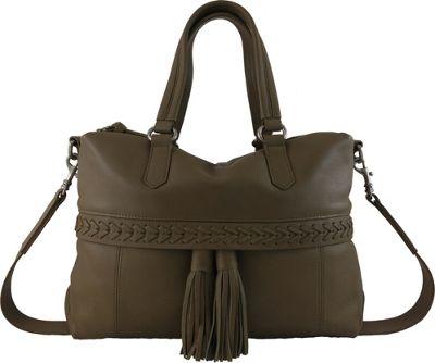 Joelle Hawkens by treesje Daphne Duffel Olive - Joelle Hawkens by treesje Leather Handbags