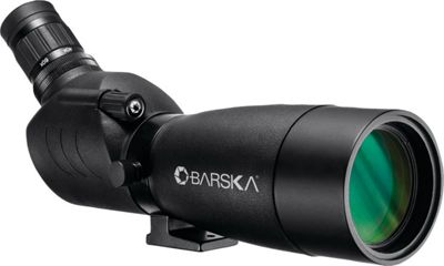 Barska Blackhawk Angled Black Spotting Scope with Hard-Soft Carrying Case & Tripod 20-60x60mm Black - Barska Sports Accessories