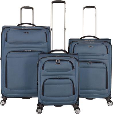 Gabbiano Valencia 3 Piece Expandable Softside Spinner Luggage Set Blue - Gabbiano Luggage Sets