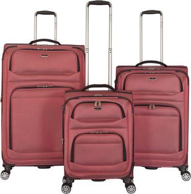 Gabbiano Valencia 3 Piece Expandable Softside Spinner Luggage Set Red - Gabbiano Luggage Sets