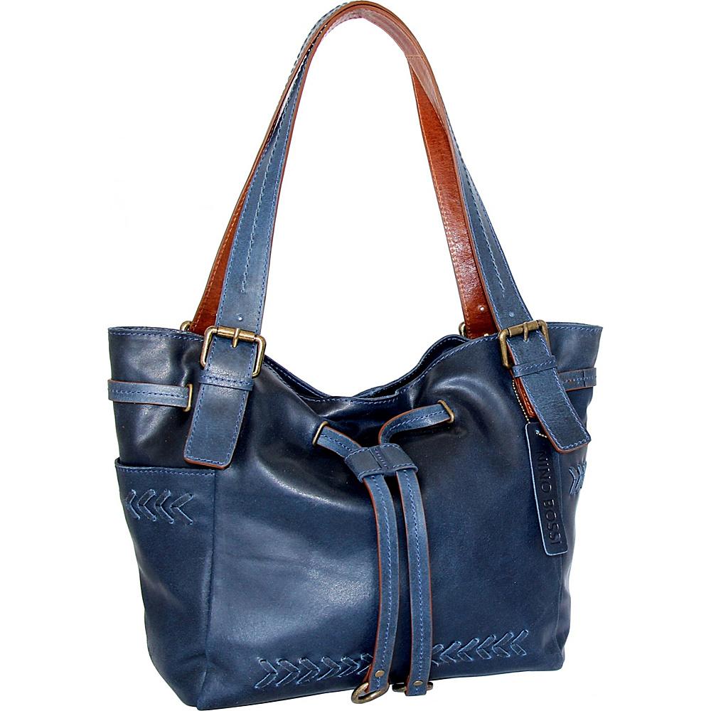 Nino Bossi Sabina Satchel Bag Denim - Nino Bossi Leather Handbags - Handbags, Leather Handbags