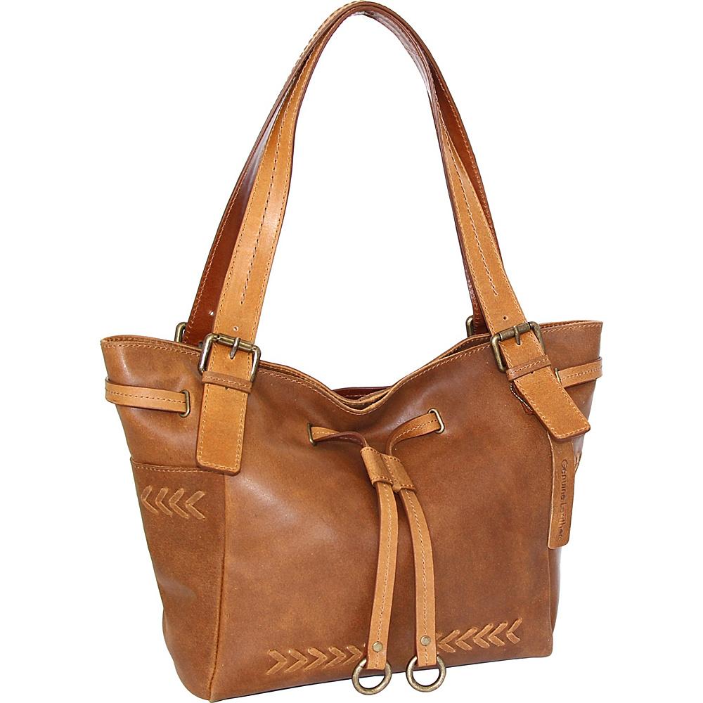 Nino Bossi Sabina Satchel Bag Saddle - Nino Bossi Leather Handbags - Handbags, Leather Handbags