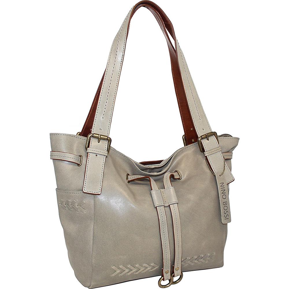 Nino Bossi Sabina Satchel Bag Stone - Nino Bossi Leather Handbags - Handbags, Leather Handbags