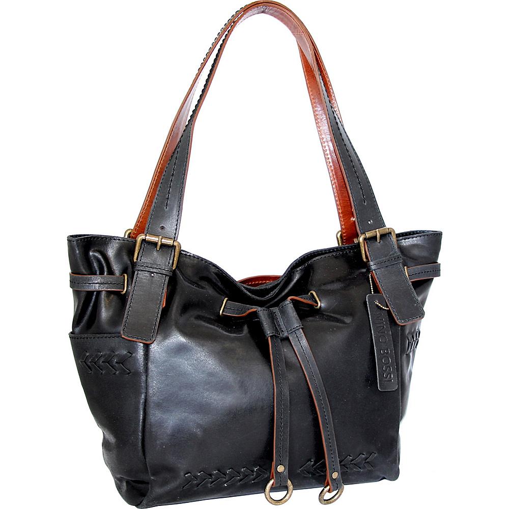 Nino Bossi Sabina Satchel Bag Black - Nino Bossi Leather Handbags - Handbags, Leather Handbags