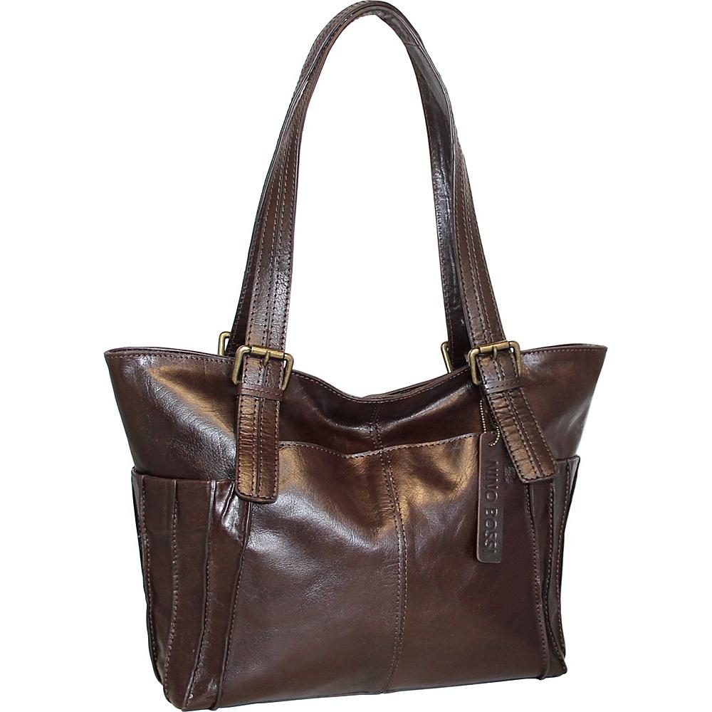 Nino Bossi Tirana Tote Chocolate - Nino Bossi Leather Handbags - Handbags, Leather Handbags