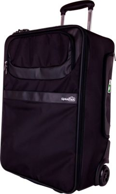 Genius Pack 22 inch Expandable Rolling Carry-On with Integrated Suiter BLACK - Genius Pack Softside Carry-On