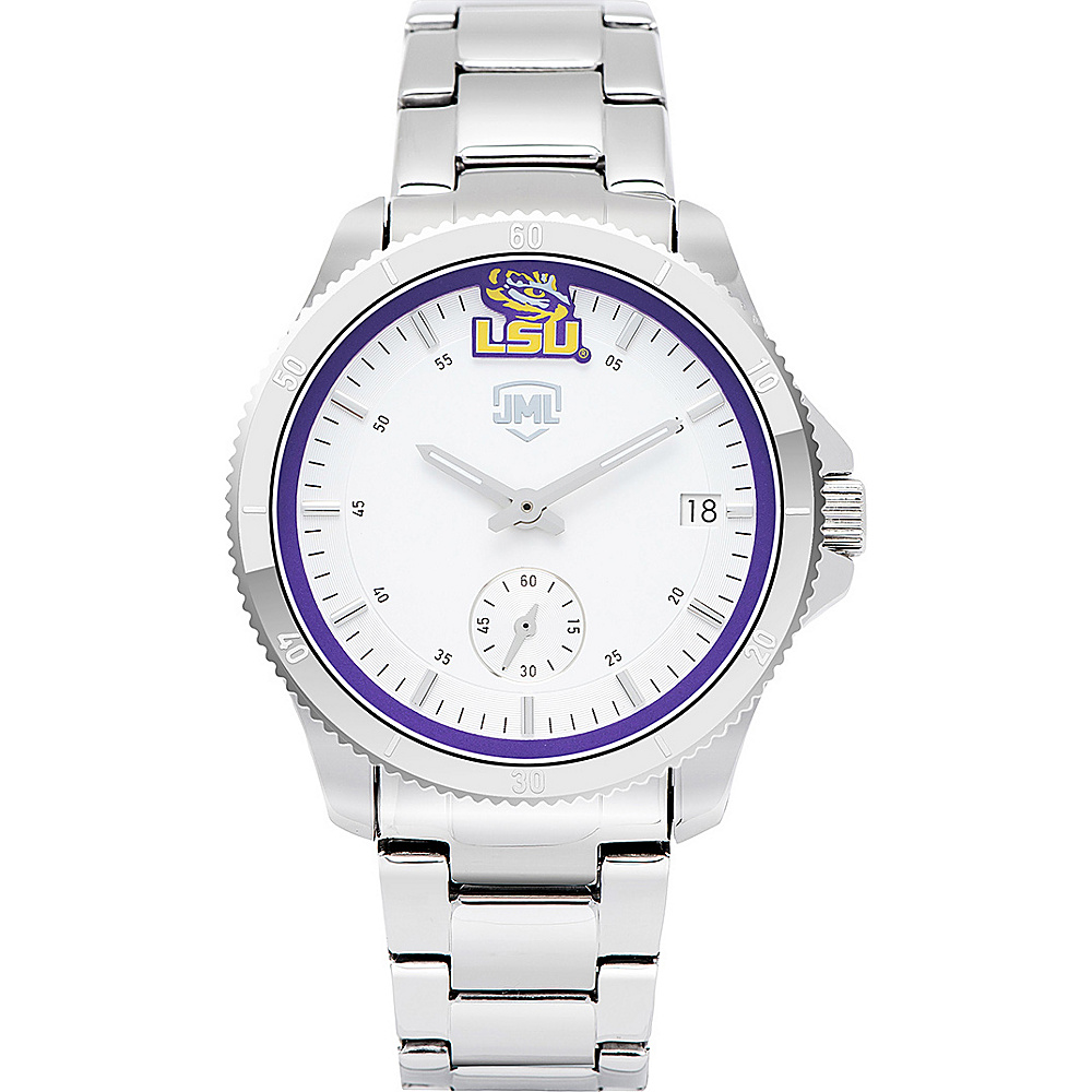 Jack Mason League Womens NCAA Silver Sport Watch LSU - Jack Mason League Watches - Fashion Accessories, Watches