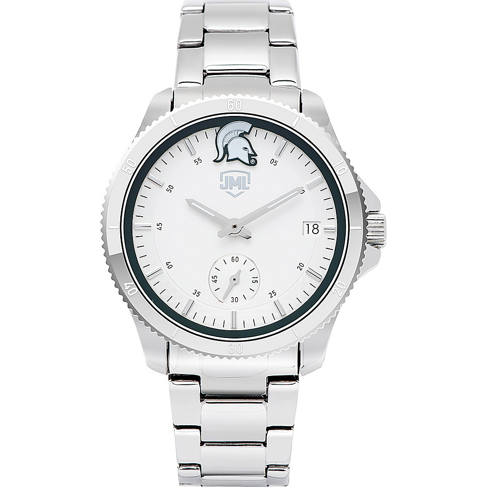 Jack Mason League Womens NCAA Silver Sport Watch Michigan State - Jack Mason League Watches - Fashion Accessories, Watches
