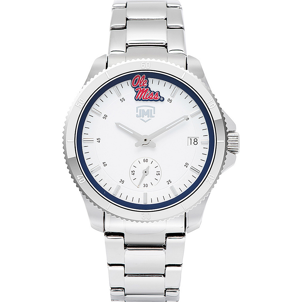 Jack Mason League Womens NCAA Silver Sport Watch Ole Miss - Jack Mason League Watches - Fashion Accessories, Watches
