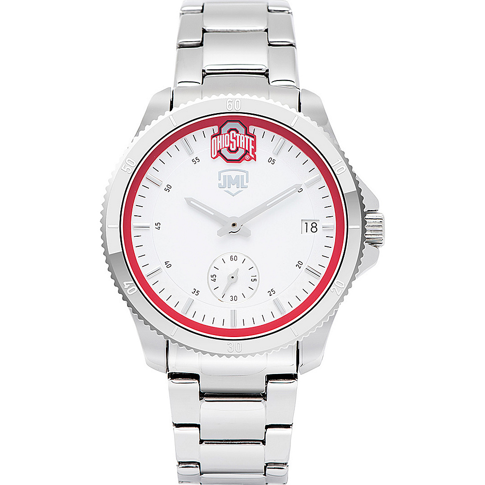 Jack Mason League Womens NCAA Silver Sport Watch Ohio State - Jack Mason League Watches - Fashion Accessories, Watches