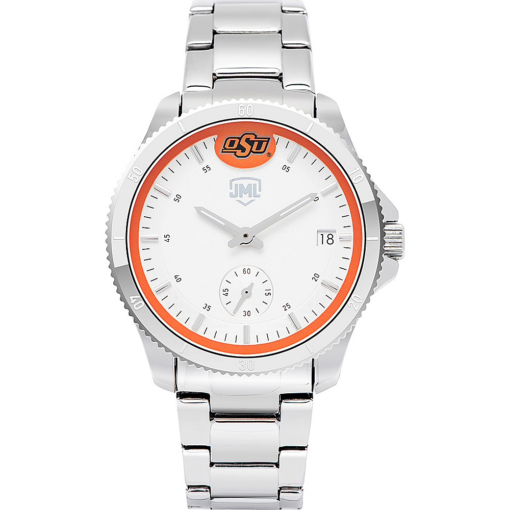 Jack Mason League Womens NCAA Silver Sport Watch Oklahoma State - Jack Mason League Watches - Fashion Accessories, Watches