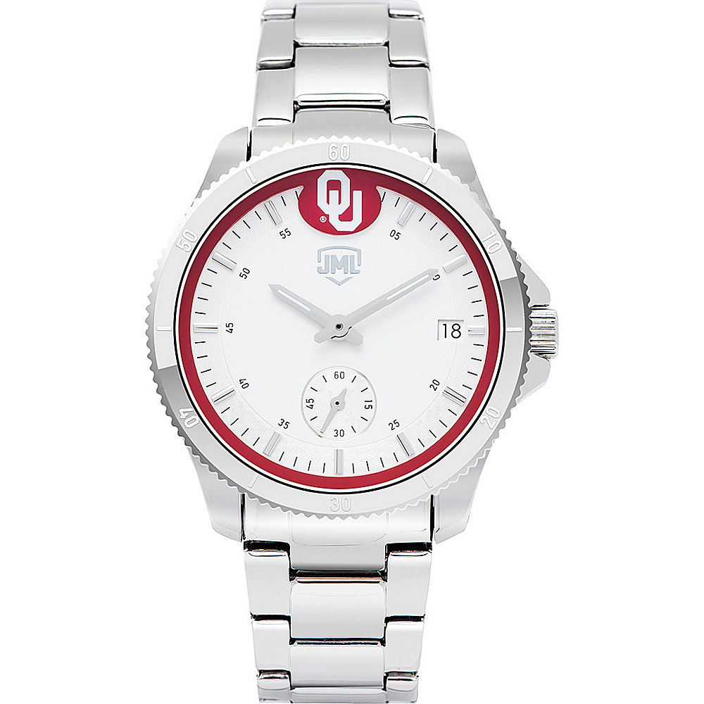 Jack Mason League Womens NCAA Silver Sport Watch Oklahoma - Jack Mason League Watches - Fashion Accessories, Watches