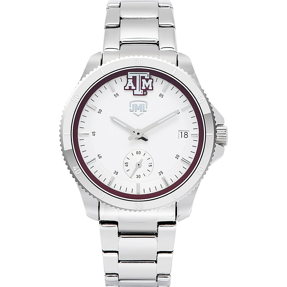 Jack Mason League Womens NCAA Silver Sport Watch Texas A&M - Jack Mason League Watches - Fashion Accessories, Watches