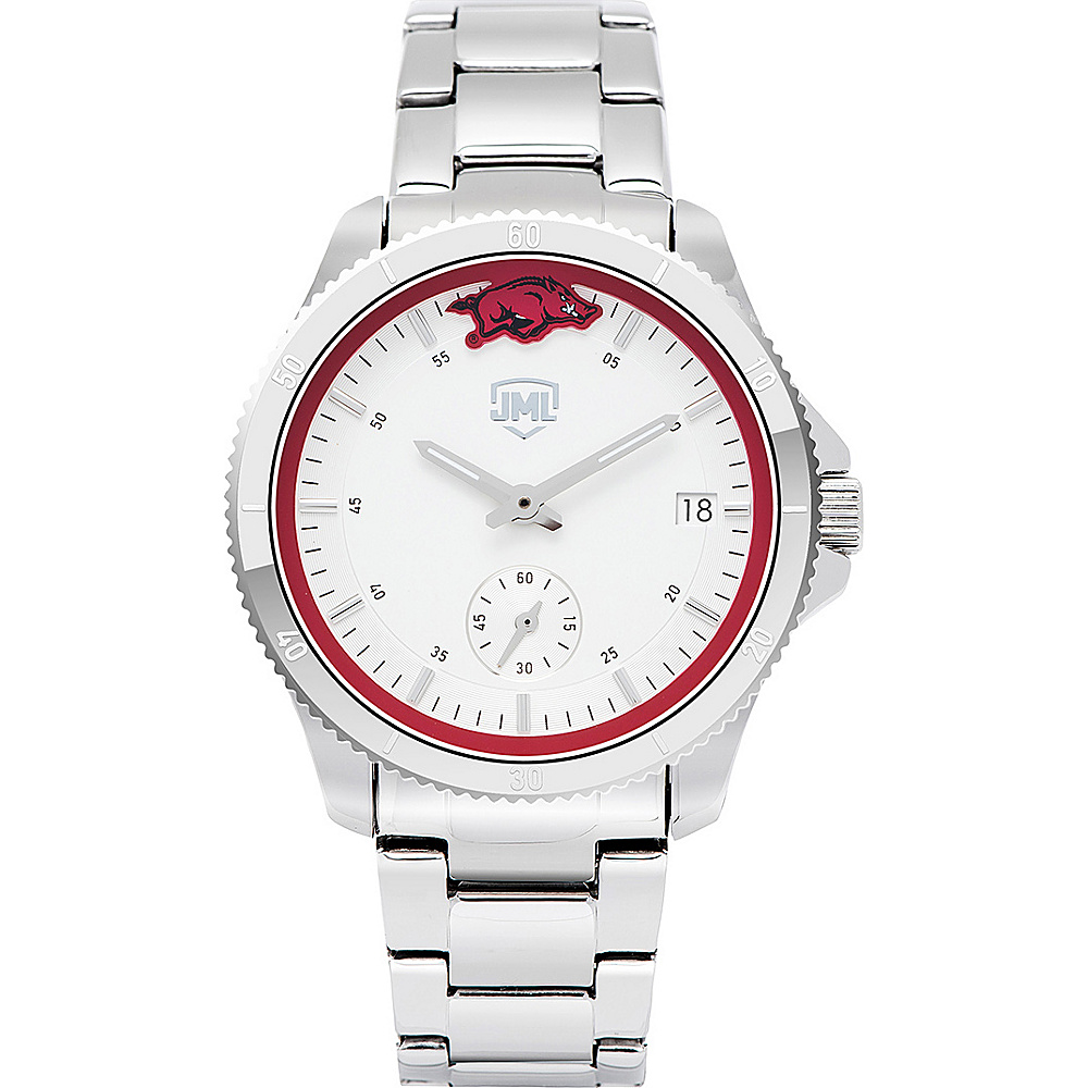 Jack Mason League Womens NCAA Silver Sport Watch Arkansas - Jack Mason League Watches - Fashion Accessories, Watches