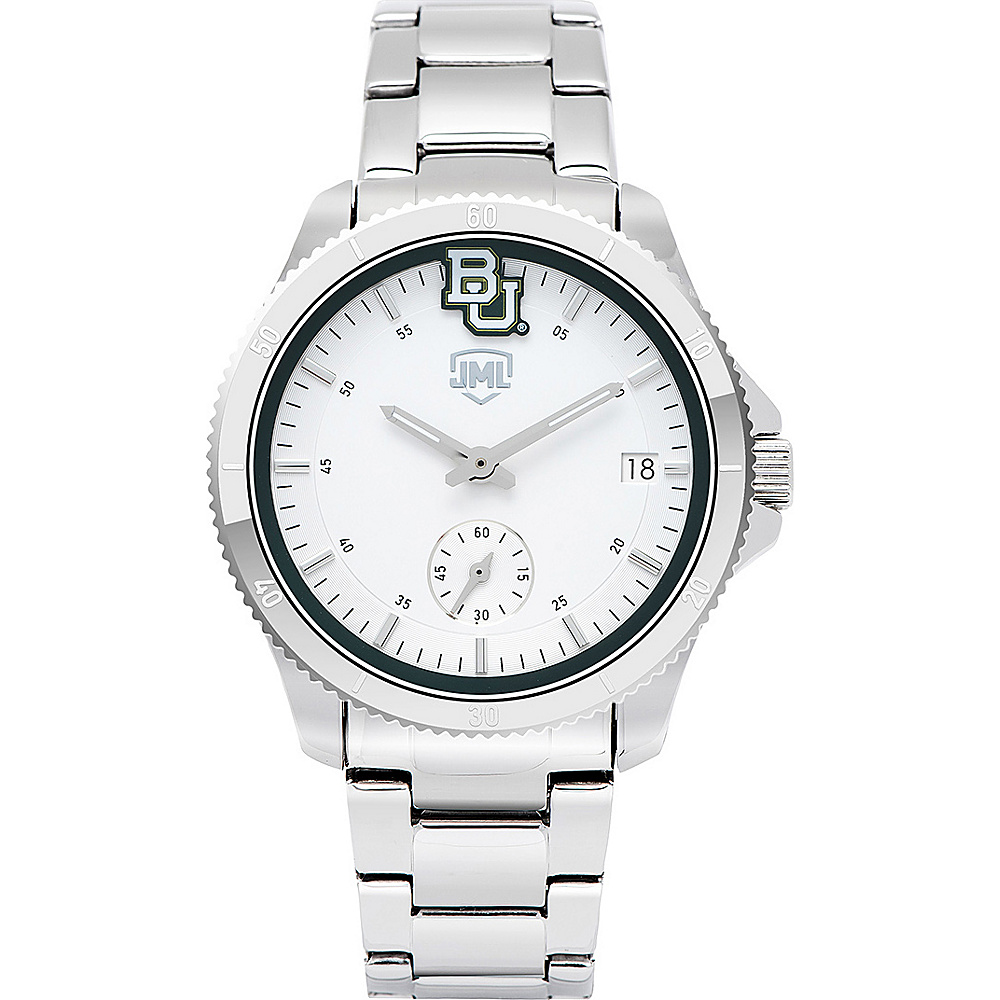Jack Mason League Womens NCAA Silver Sport Watch Baylor - Jack Mason League Watches - Fashion Accessories, Watches