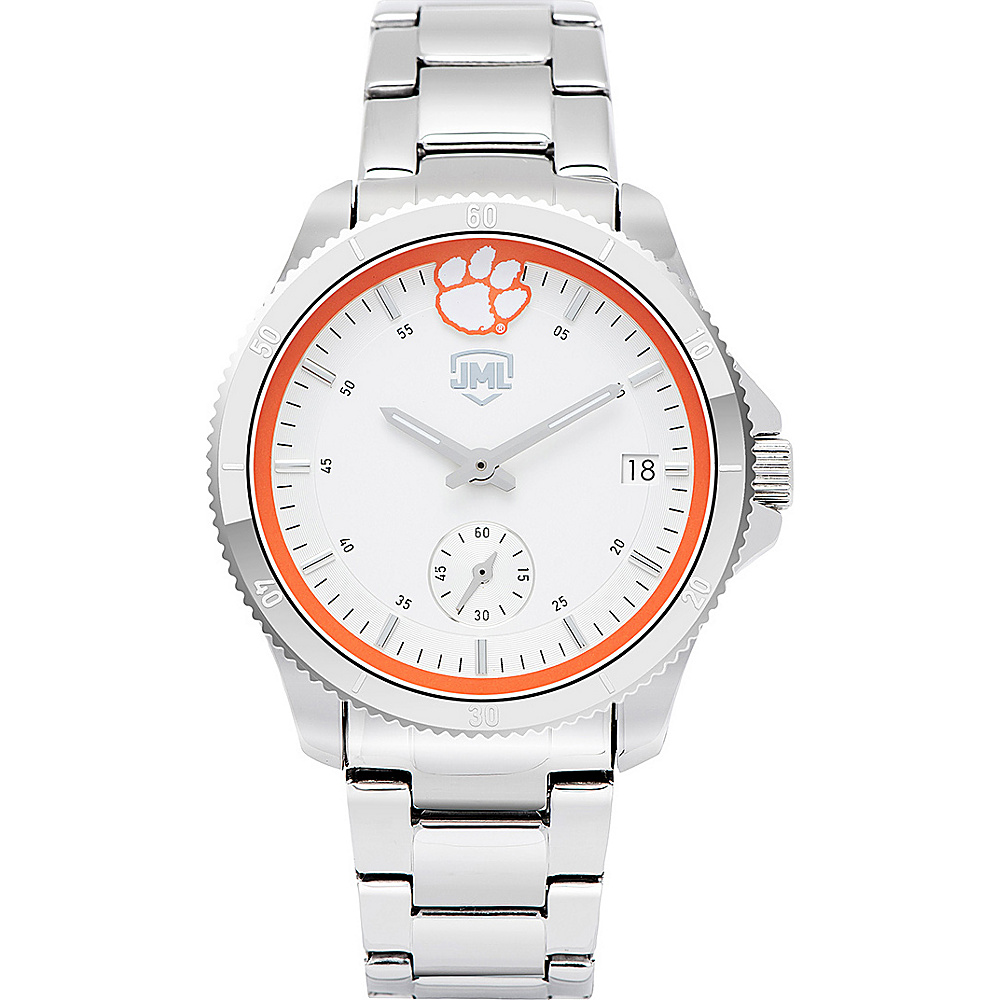 Jack Mason League Womens NCAA Silver Sport Watch Clemson - Jack Mason League Watches - Fashion Accessories, Watches
