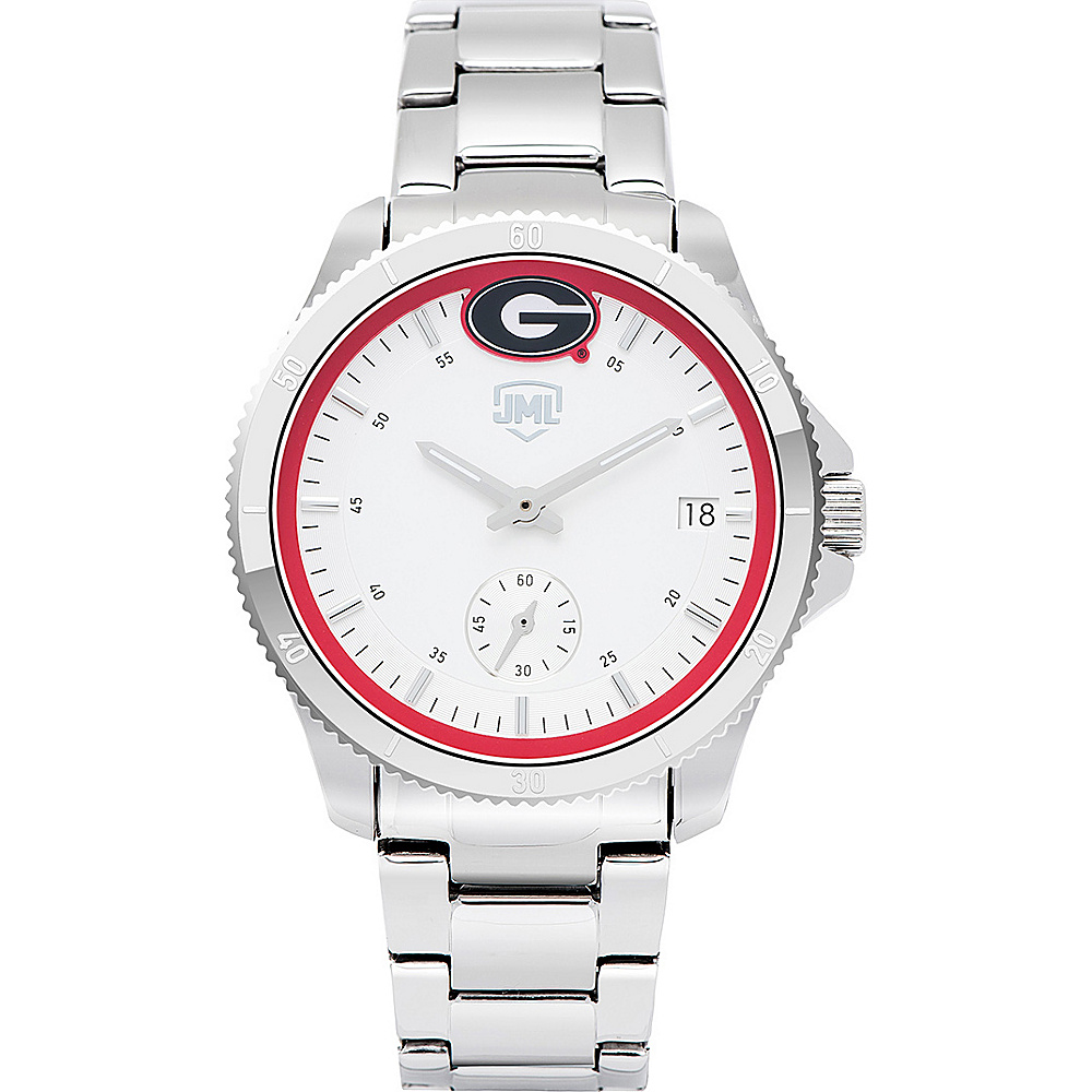 Jack Mason League Womens NCAA Silver Sport Watch Georgia - Jack Mason League Watches - Fashion Accessories, Watches