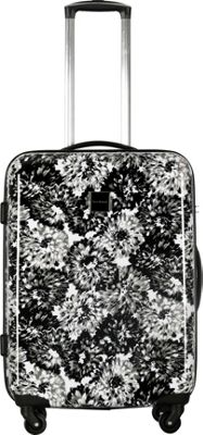 Isaac Mizrahi Boldon 22 inch Hardside Carry-On Spinner Luggage Black/White - Isaac Mizrahi Hardside Carry-On