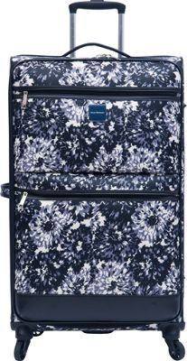 Isaac Mizrahi Boldon 29 inch Checked Spinner Luggage Black/White - Isaac Mizrahi Softside Checked
