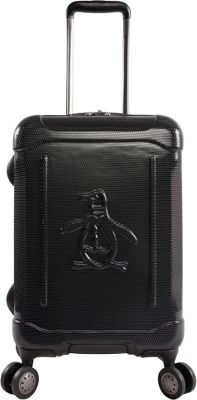 Original Penguin Luggage Clive 21 inch Expandable Hardside Carry-On Spinner Luggage Black - Original Penguin Luggage Hardside Carry-On