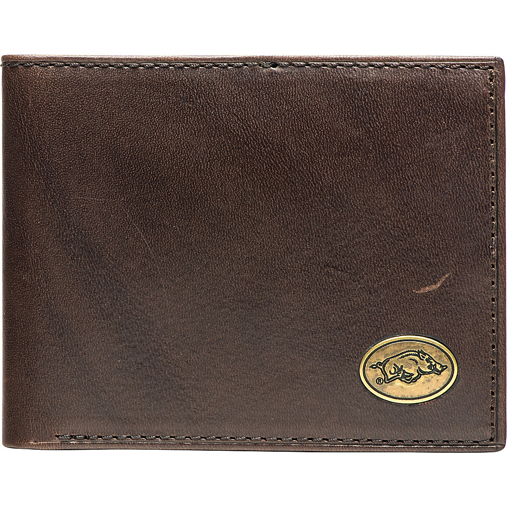 Jack Mason League NCAA Legacy Traveler Bifold Wallet Arkansas - Jack Mason League Mens Wallets - Work Bags & Briefcases, Men's Wallets