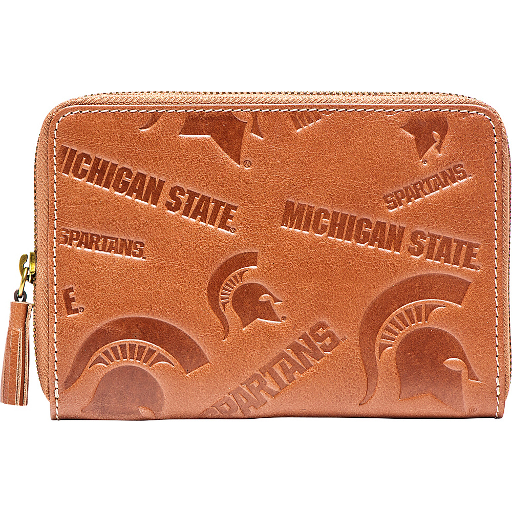 Jack Mason League NCAA Sideline Wristlet Michigan State Spartans - Jack Mason League Leather Handbags - Handbags, Leather Handbags