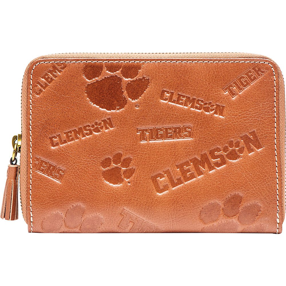Jack Mason League NCAA Sideline Wristlet Clemson Tigers - Jack Mason League Leather Handbags - Handbags, Leather Handbags