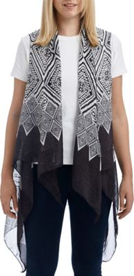 Lava Accessories Geometric Print Scarfvest One Size  - Black - Lava Accessories Women's Apparel