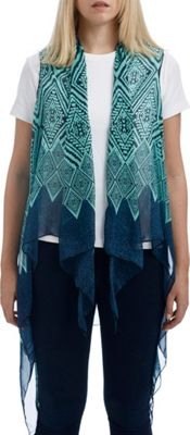 Lava Accessories Geometric Print Scarfvest One Size  - Mint - Lava Accessories Women's Apparel