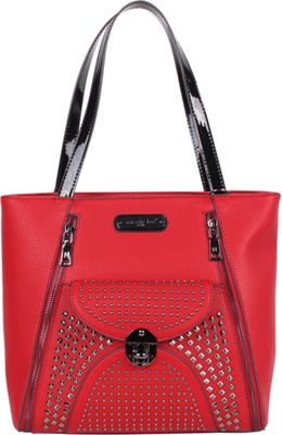 Nicole Lee Sanne Flip-Lock Shopper Tote Red - Nicole Lee Manmade Handbags