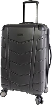 Perry Ellis Tanner 29 inch Hardside Checked Spinner Luggage Charcoal - Perry Ellis Hardside Checked
